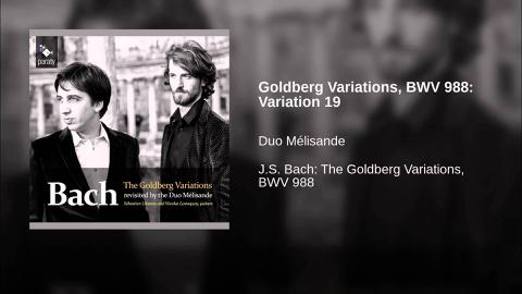 Les variations Goldberg (J.S. Bach)