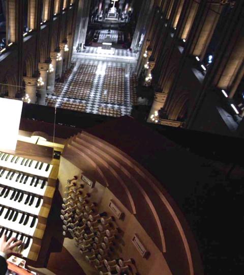 Dans le ventre de l'Orgue de Notre-Dame