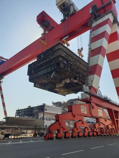 THE CHANTIERS DE L'ATLANTIQUE, the largest shipyard in Europe